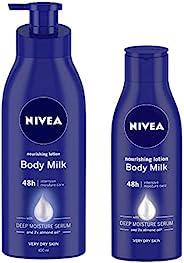 NIVEA Nourishing Lotion Body Milk, 400ml and NIVEA Nourishing Lotion Body Milk, 120ml
