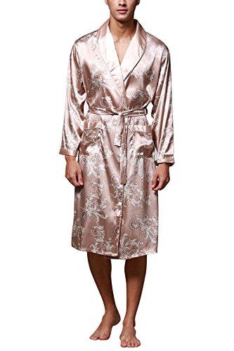Dolamen Herren Morgenmantel Bademäntel Kimono, Weich u Leicht glatte ...