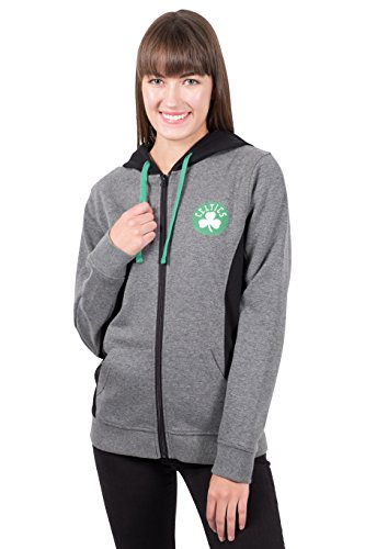 UNK Damen ful1485F NBA Dime Full Zip Fleece Hoodie Sweatshirt Jacke, Damen, FUL1485F, Heather Charcoal Full Zip Screen-print Sweatshirt