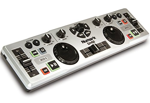 Numark DJ2GO Ultraportabler kompakter USB MIDI DJ Controller + Virtual DJ LE