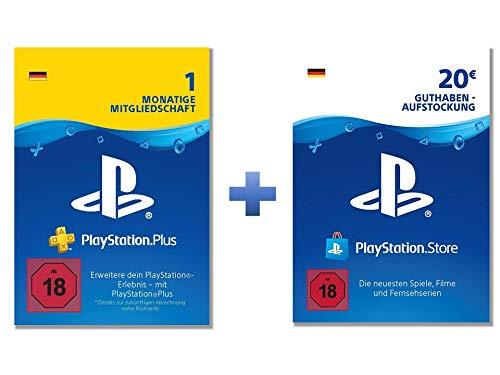 PlayStation Plus: Online Starter Pack (PS Plus 1 Monat mit 20€ PSN Guthaben; deutsches Konto) (Playstation Plus-online)