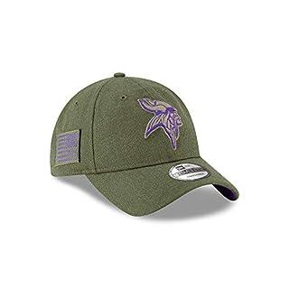 New Era Minnesota Vikings 9twenty Adjustable Cap On Field 2018 Salute to Service Green - One-Size