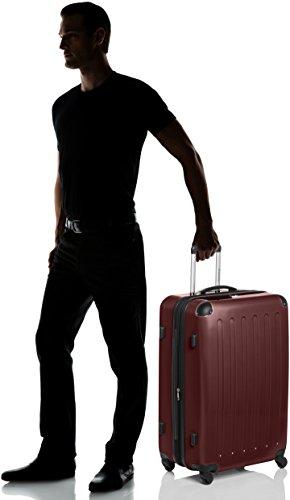 HAUPTSTADTKOFFER - Alex - Hartschalen-Koffer Koffer Trolley Rollkoffer Reisekoffer Erweiterbar, 4 Rollen, TSA, 75 cm, 119 Liter, Burgund - 6