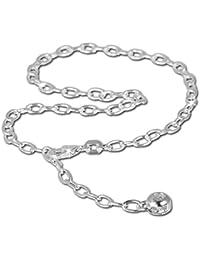 SilberDream Fußkette Zirkonia 925 Sterling Silber 25cm Fußkettchen SDF001