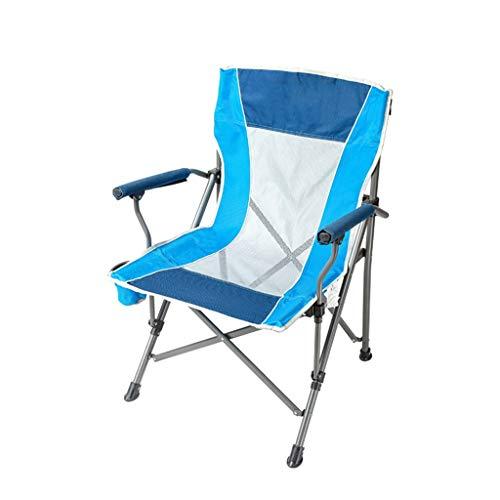CGF-Faltstuhl Klappstuhl Klappstuhl Camping Stuhl Portable Garten Strand Camping Schlafzimmer Liegestuhl, Lager 100 kg (Multicolor) (Farbe : Blau)