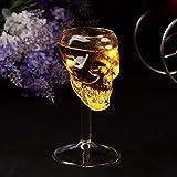 sunnymi Créatrices Transparente Bouteille de bière Coupe de vin en Verre Tête de Mort Tasse à vin Rouge Sobre, Claire, 12X6X6cm