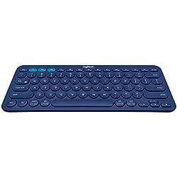 Logitech K380 Tastiera Bluetooth per Windows, Mac, Chrome e Android, Blu (Tastiera italiana)