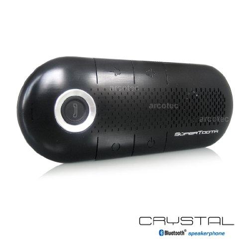 Supertooth Crystal - neues Modell - Bluetooth A2DP Freisprecheinrichtung - Freisprechanlage fürs Auto - kompatibel zu Smartphones wie Samsung S7, S6 edge, HTC One, Sony Xperia Z, Apple iPhone 6 uvm