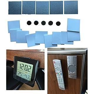 Magnet Halterungssystem Set - Metallplättchen & Magnete Selbstklebend für Fernbedienung, Bilder, Fotos, Aufhänger organisieren - Universal Halterung (Set 1-25mm)