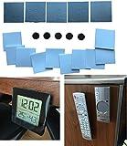 Magnet Halterungssystem Set – Metallplättchen & Magnete Selbstklebend für Fernbedienung, Bilder, Fotos, Aufhänger organisieren – Universal Halterung (Set 2-45mm)