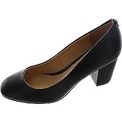Ravel Weston, Damen Pumps schwarz schwarz, schwarz - schwarz - Größe: 39