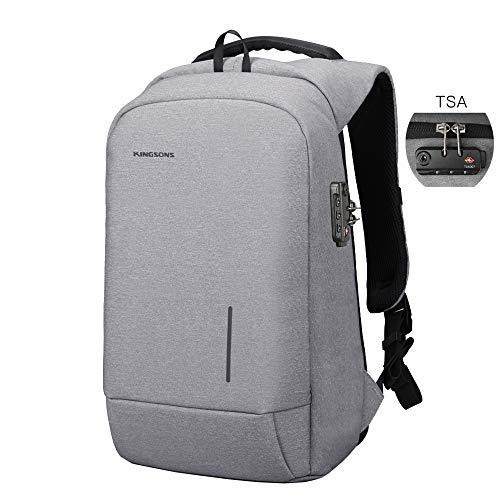 b19e4d0558 Kingsons Lightweight Travel Laptop Backpack, Business Computer Bag Slim  Laptop Rucksack 15.6