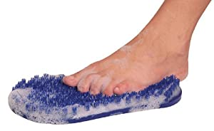 Homecraft Soapy Soles (Eligible for VAT relief in the UK), In Shower Foot Cleaner, Scrub Feet Easily Without Bending, Washing Aid for People with Back Pain or Range of Motion Problems, Scrubber