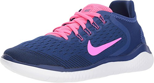 Nike Wmns Free RN 2018 - Deep Royal Blue/Rosa Blast-OBS - Zapatillas de Running para Mujer