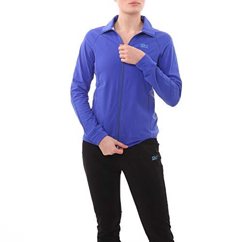 SPORTKIND Veste de Survêtement de Tennis/Fitness/Sport pour Filles & Femmes, Cobalt Blue, Size XX-Large