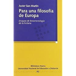 Para una filosofía de Europa: Ensayos de fenomenología de la historia (Razón y Sociedad)