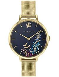 Sara Miller The Wisteria Collection SA4030 - Reloj con Correa de Malla bañada ...