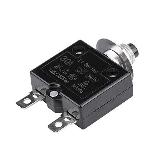 KIMISS Manual Reset Interruttore termico Interruttore sovratemperatura Protezione sovraccarico(30A)