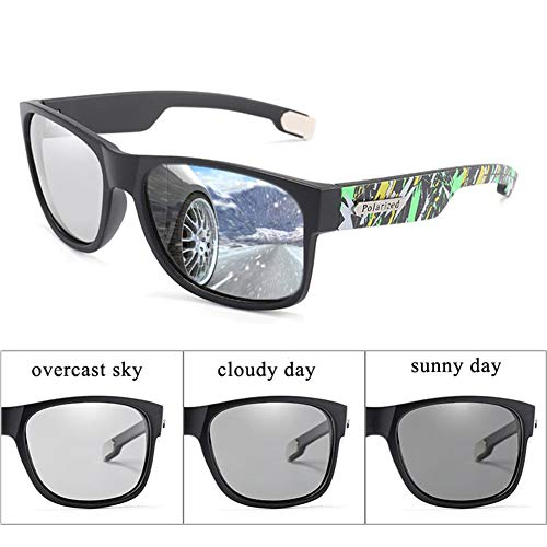 VIWIV Sonnenbrillen, UV400 Photochrom Polarisierte Sonnenbrillen Für Herren Chameleon Sonnenbrillen Fashion Protection Driver Eyes,1