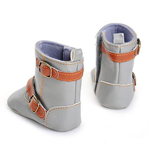 ESTAMICO , Chaussures souple pour bébé (garçon) Gris gris 3-6 mois Gris