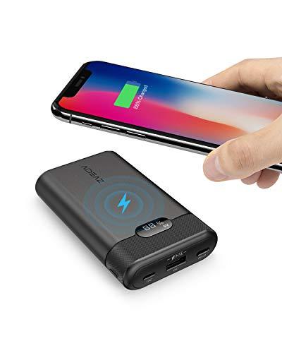 AIDEAZ 10000mAh Power Bank Cargador Móvil Portátil Batería Externa, Entrega de energía 18W y Pantalla LCD, Compatible para iPhoneX/XS/XS MAX/XR/8, Compatible para Samsung Galaxy y Otros Dispositivos