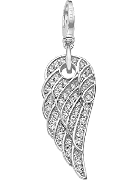 JETTE Charms Damen-Charm Angelwing 925er Silber 50 Zirkonia One Size, silber