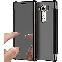 LG V10 Hülle,LG V10 Spiegel Ledertasche Handyhülle Brieftasche im BookStyle,SainCat Clear View Überzug Mirror... preisvergleich bei billige-tabletten.eu