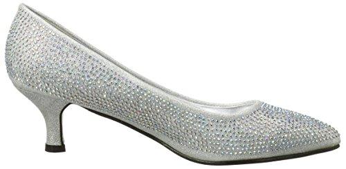 Kidderminster Footwear F9811, Ballerines et talons femme Argent - Argenté