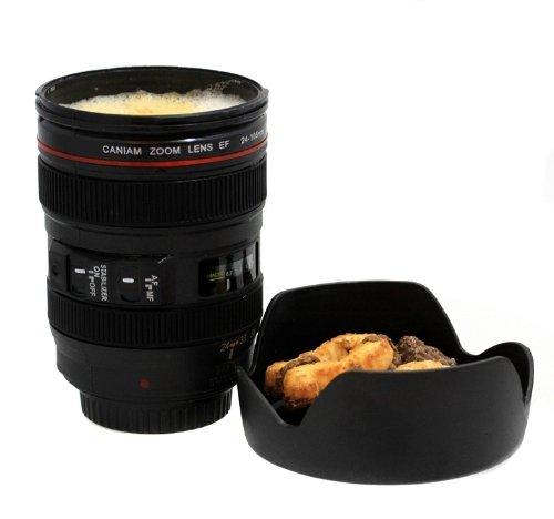 Oramics Kamera Objektiv im Kaffeebecher Design - mit 24-105 mm Cup Mug - Super Geschenkidee!