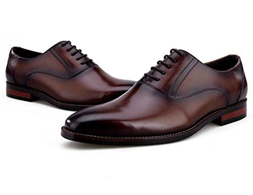EU44 Uomo in da Colore Caffecolore Style Business testa quadrata in British Wear dimensioni Caffecolore uomo pelle Pelle Scarpe Scarpe UK8 Piccola Formal 5 HwSdqq4