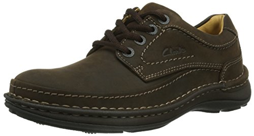 Clarks Nature Three 20340682, Scarpe stringate basse uomo, Marrone (Braun (Ebony Oily)), 44.5
