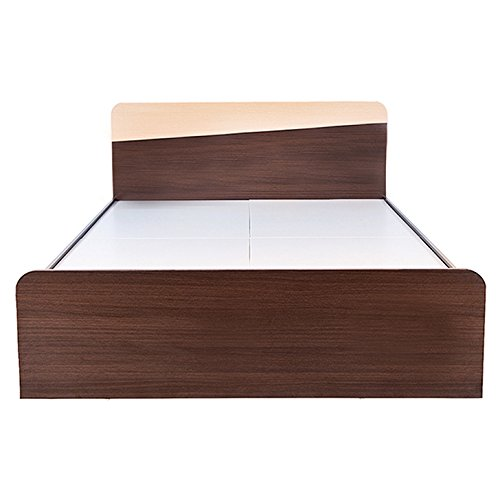 HomeTown Stylo Queen Size Bed (Brown)