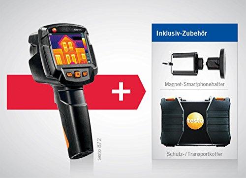 térmica de cámara Testo 872con módulo de radio Bluetooth/WiFi, incluye maletín, kleinsc hmidt GmbH magnético de soporte para smartphone