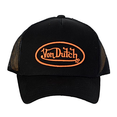 von-dutch-cappello-trucker-von-dutch-nero-e-arancione-matt-uomo-donna-nero-taglia-unica
