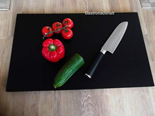 PE Schneidbrett Gastro Kunststoff Schneidebrett Schwarz, GN Größe 1/1, 530 x 325 mm
