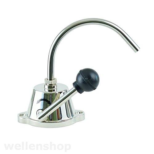 Preisvergleich Produktbild wellenshop Wasserhahn mit Handpumpe ohne Strom 3 / 8 Zoll 10mm Anschluss selbstansaugend