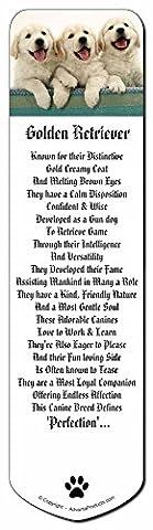 Golden Retriever Puppies Bookmark, Book Mark Gift