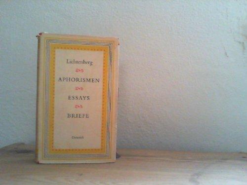 Aphorismen, Essays, Briefe. Lichtenberg. Hrsg. von Kurt Batt, Sammlung Dieterich ; Bd. 260