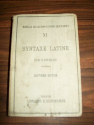 Syntaxe latine d'après les principe...