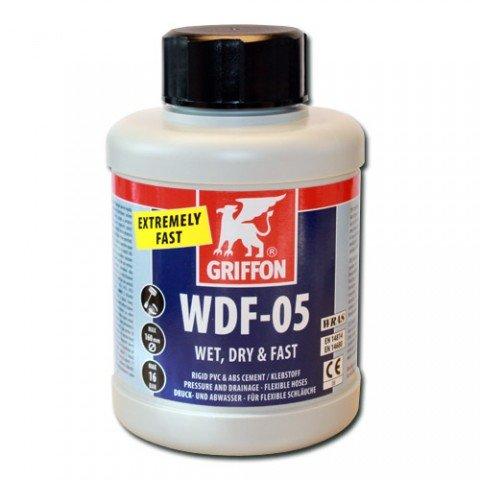 Griffon Ciment pour tuyau de piscine/jacuzzi PVC ABS 250 ml WDF-05 humide, sec et rapide