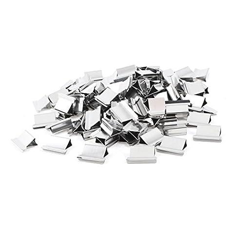 TOOGOO (R) 100 Stueck 15mm x 10mm x 5mm Metall Push Muschel Clips nachfuellen Clip