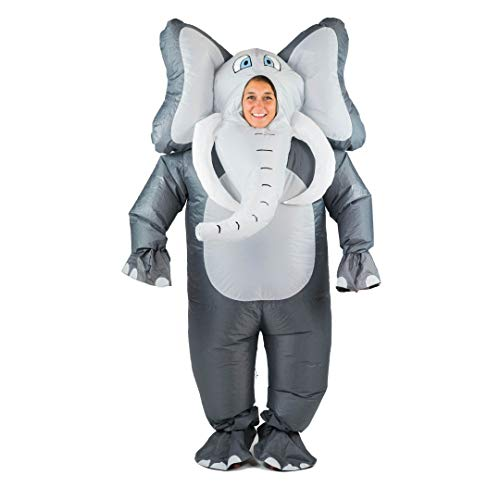 Bodysocks Fancy Dress Aufblasbares Riese Elefante Kostüm