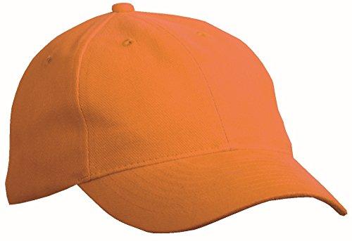 Casquette 6 panneaux légèrement renforcés Casquette 6 panneaux coton brossé lourd Orange