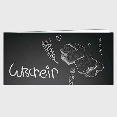 """Gutschein Bäckerei """"Tafel"""" – Format: DIN Lang, 25 Stück"""
