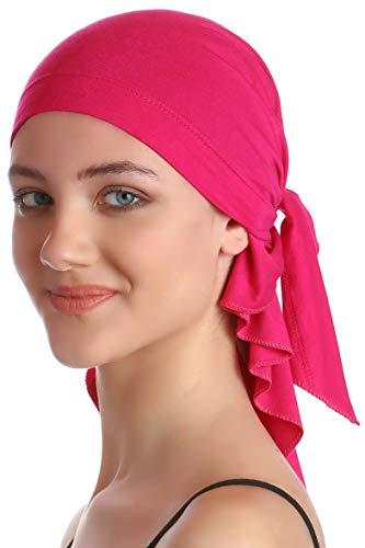 Deresina Headwear Unisex Baumwolle Bandana Fur Haarverlust (Deep Rosa)