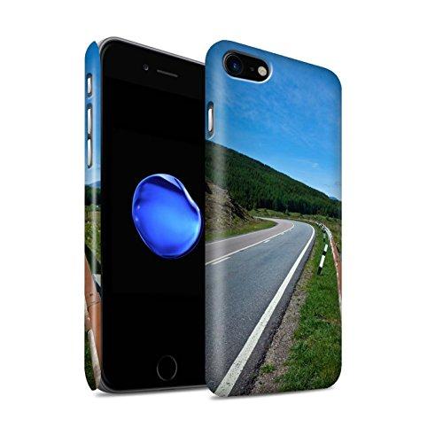 STUFF4 Matte Snap-On Hülle / Case für Apple iPhone 8 / Gebirge/Loch Muster / Schottisch Landschaft Kollektion Straße