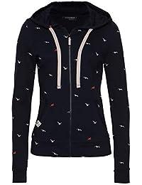 TrendiMax Damen Sweatshirt Kapuzenpullover Jacke mit Kapuze Hoodie Pullover Sweatjacke Kapuzenjacke