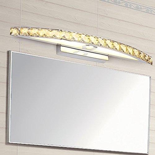 Nclon moderno cristallo specchio bagno applique da parete,led 15w lusso bagno lampada impermeabile acciaio inossidabile luci da muro lampada luce incluso sorgente di luce-oro -15w-54cm - luce calda