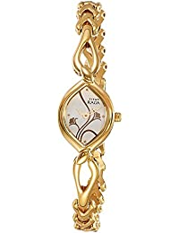 Titan Raga Analog Gold Dial Women's Watch -NK2455YM01