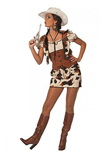 l Ringo Kleid mit Bluse und Weste Western Kuhmuster Rock, Größe:36 (Cowgirl Halloween)